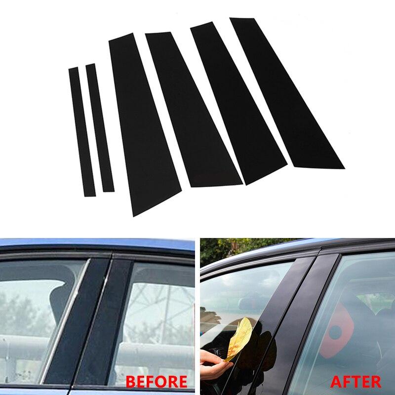 Estilo do carro Preto Brilhante Janela B-pilares Capa Protetora Guarnição de Moldagem Para BMW 1 3 5 7 Série F30 f10 X5 X6 E70 F15 F16 X3 F25