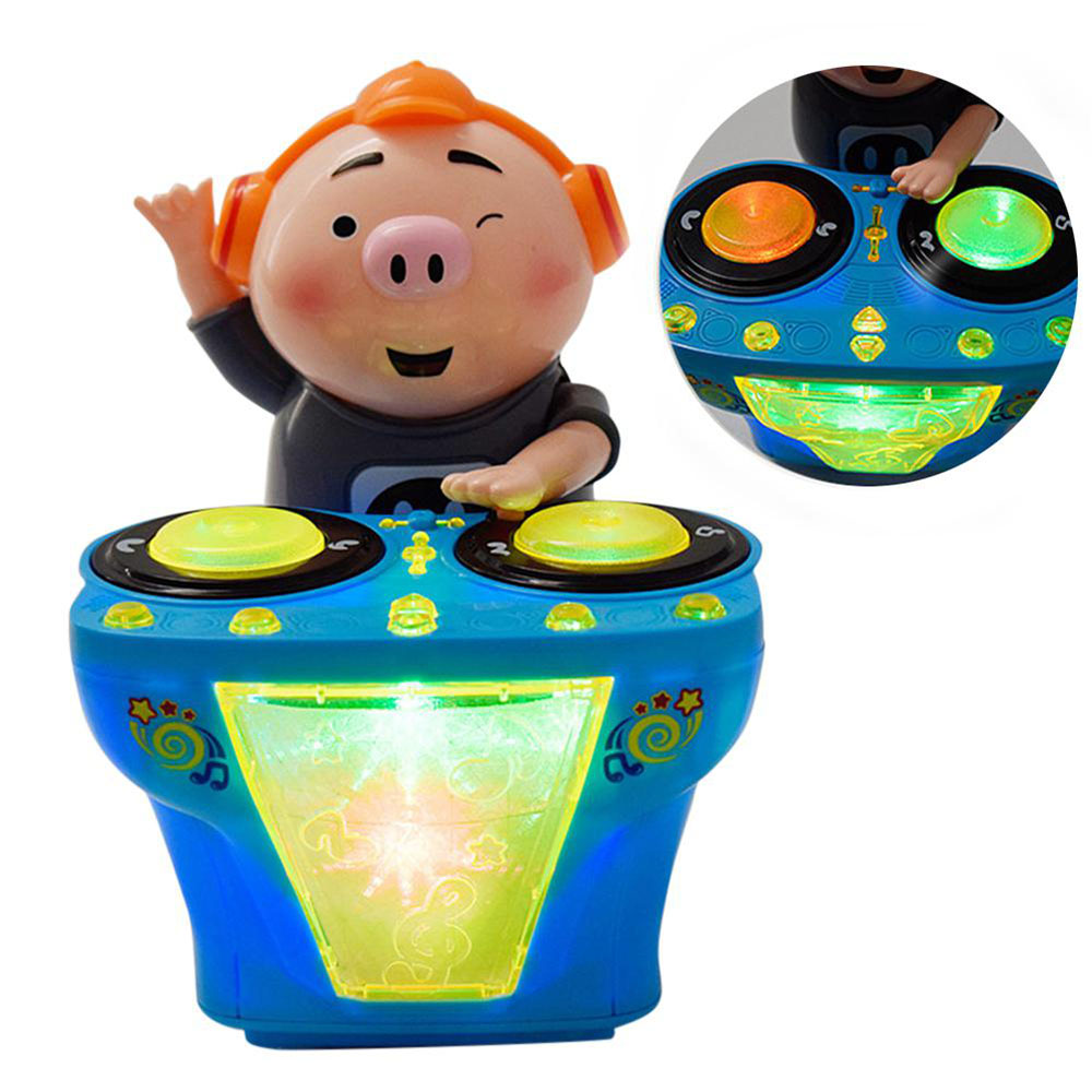 Baby DJ Music Electric Pig Toys Amusing Music Funny Rocking Pig With Light Early Education Toys Children Music Gift