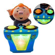 Baby DJ Music Electric Pig Toys Amusing Funny Rocking with Light Early Education Children Gift