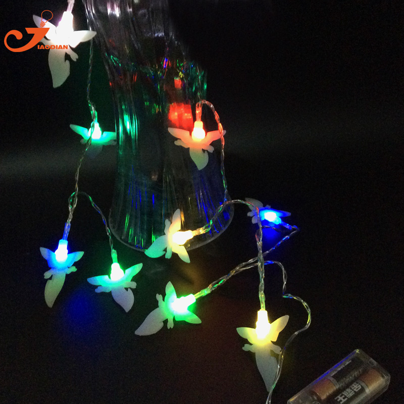 White frost Angel Christmas Light 10 led wedding lighting garden string lights battery operated home party 3V AA indoor lighted