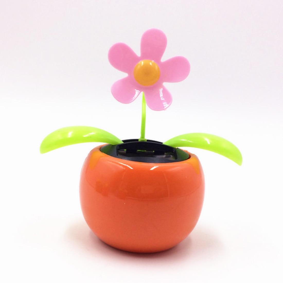 hot SaleCar Styling Solar Power Flip Flap Flower For Car Swing Dancing Flower