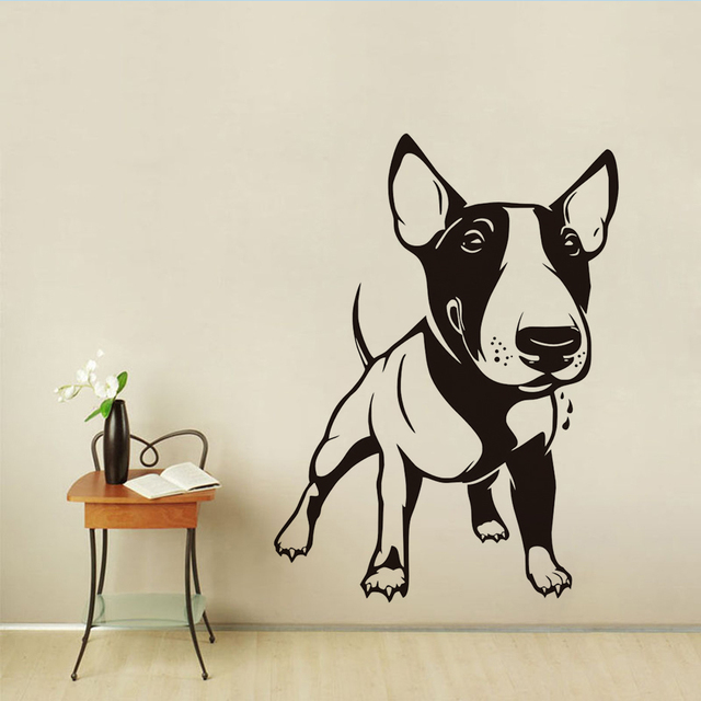 Dctop animal funny dog wall sticker for kids room decoration little dog poster waterproof wall art
