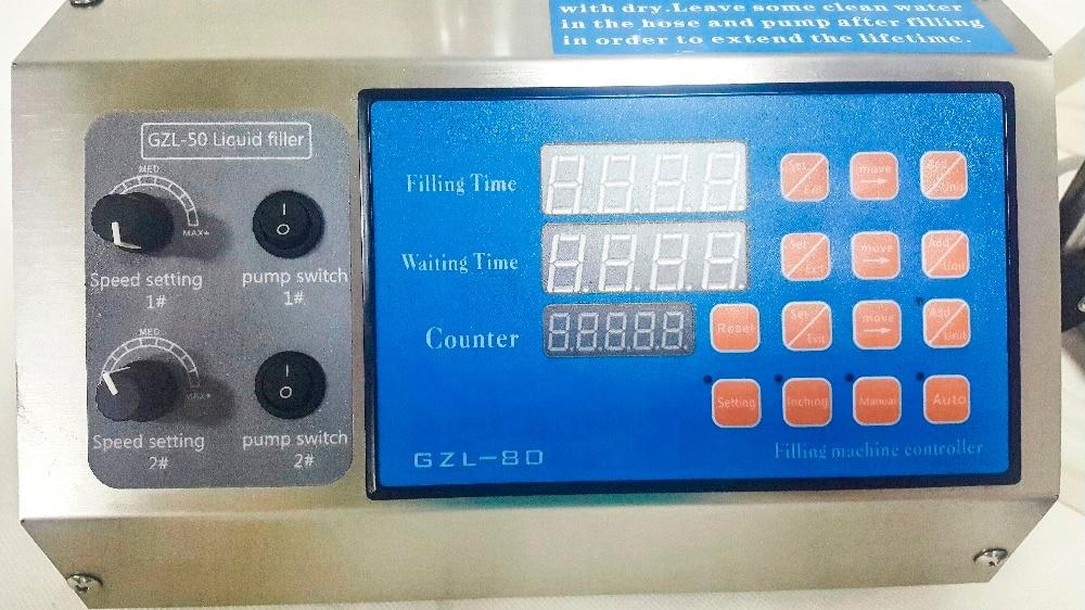 Купить с кэшбэком GZL-80 new Digital essential oil filling machine with 2 nozzles model peristaltic pump perfume filler