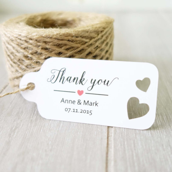 Wedding Thank You Gift Tags: Personalized Engagement Wedding Thank You Gift Tags