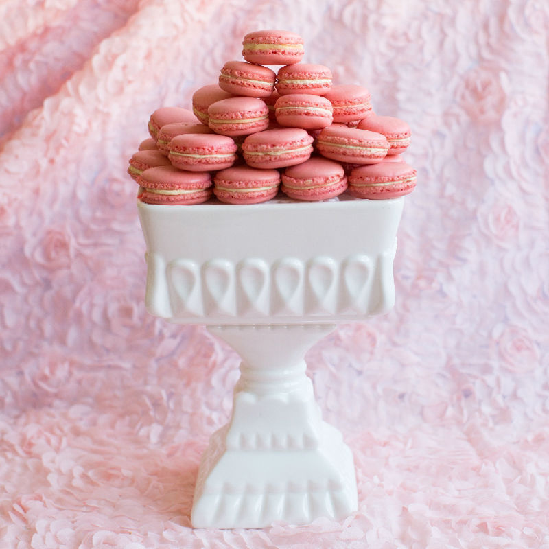 Ceramic Macaron dessert plate bowl white stand for decorator wedding party baking/afternoon tea tray cake tools table decoration-in Stands from Home ... & Ceramic Macaron dessert plate bowl white stand for decorator wedding ...