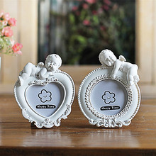 Heart Round Rectangle Oval Shaped Photo Frames For Kids, 2 Inch Mini Wedding Gift Picture Frame White Photo Frame, fotolijstje(China)