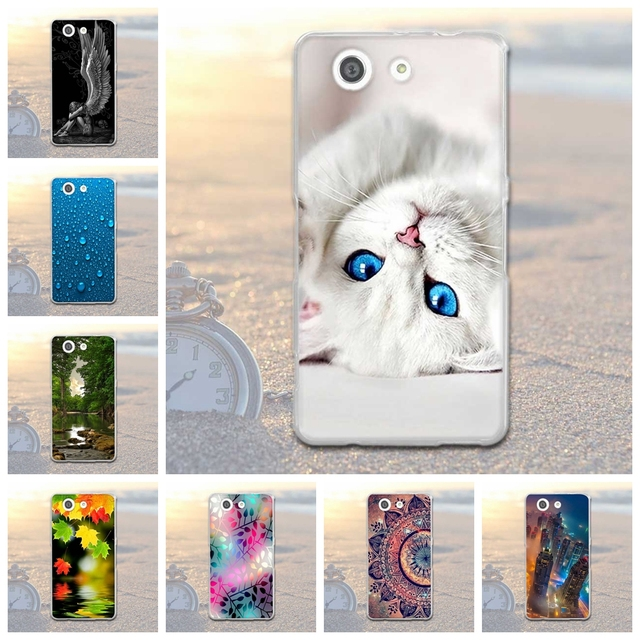 """For Sony Xperia Z3 Compact Case Soft TPU & Silicone Cover For Sony Xperia Z3 Compact Cover Z3 Mini D5803 D5833 4.6"""" Bags Coque"""