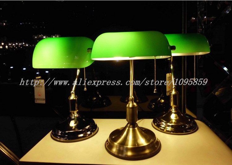 Bank Table Lamp Desk Light Vintage Bedside Lamps Bedroom Lighting ...