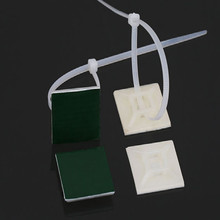 20*20mm sujeta cables adhesivo cable tie mount base self adhesive holders fija adesivo fanstening 100pcs/lot