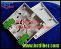 2 portas FTTH Fibra Óptica Patch Panel, ABS Novo 2 port 86 tipo SC conector de fibra caixa de parede, sem Engate,