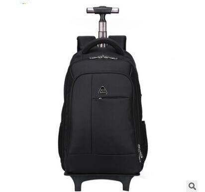 Mulheres Homens Mochilas de viagem com rodas Sacos do trole da bagagem Do Trole Viagens de Negócios Mochila Oxford Rolando Bagagem mochila
