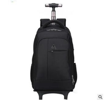 53f13e4895 See More women travel Backpacks with wheels Men Business Travel Trolley  Bags luggage trolley Mochila Oxford Rolling Baggage Backpack bag