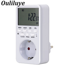 Electronic Digital Timer Switch EU US FR UK TH Plug Kitchen Outlet 230V 50HZ 7 Day 24 Hour Programmable Timing Socket