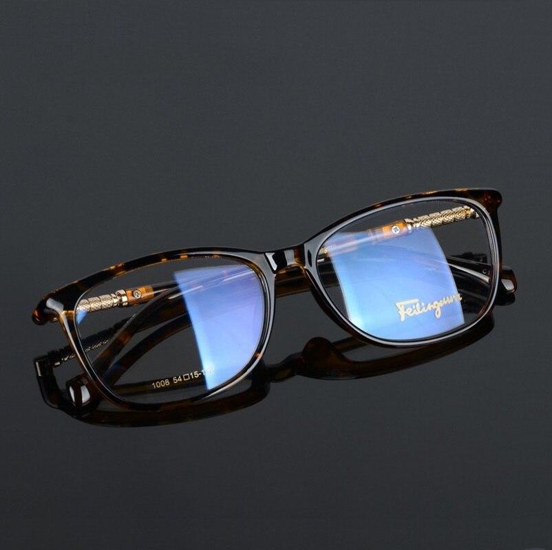 Image 2 - width 138 Full frame plate elastic legs fashion men women myopia optical glasses frames reading glass 008 oculos de grau eyewear-in Men's Eyewear Frames from Apparel Accessories