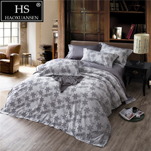 Home Textile Jacquard Bedding Cartoon Paisley Star Grey 4Pcs Egyptian Cotton Bed Sheets Duvet Cover Pillowcase 500 Thread Count olympic queen size 600 thread count 100% egyptian cotton 16 deep pocket tailored bedskirt solid elephant grey created by pearl bedding