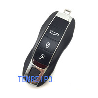 3 / 3+1 / 4 / 4+1 Buttons Remote Car Key Shell For Porsche 911 Boxster Keyless Car Key Fob Case Shell Replacement Car Key Cover