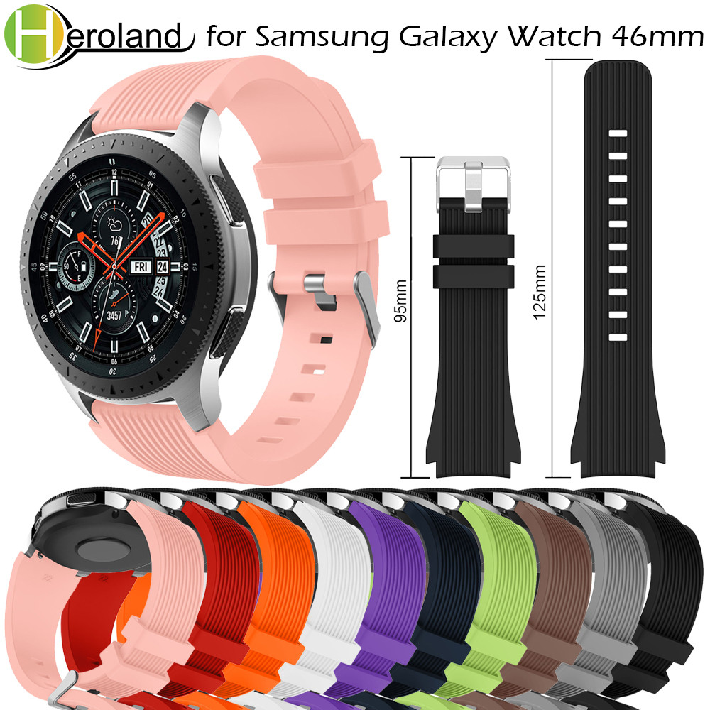 sport 20/22mm Silicone strap for Samsung Galaxy Watch 42mm smart watch band for Samsung Galaxy Watch 46mm Bracelet Accessories аксессуар ремешок samsung galaxy watch 42mm silicone silver et ysu81msegru