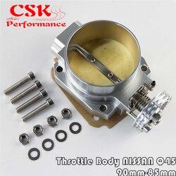 90MM-85mm Q45 Throttle Body Intake Manifold FOR NISSAN RB25DET RB26DET RB20DT GTS SILVER