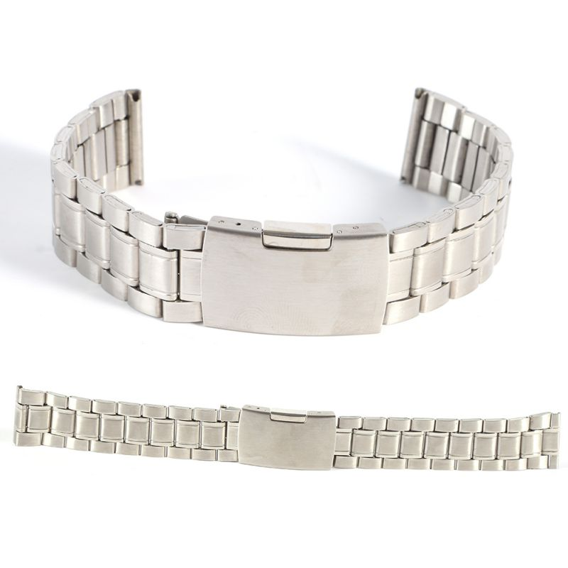 Hot Leisure Watchbands Stainless Steel Unisex Watch Band Strap Straight Snaps Bracelet 18mm 20mm 22mm hot leisure watchbands stainless steel watch band strap straight snaps bracelet 18mm 20mm 22mm
