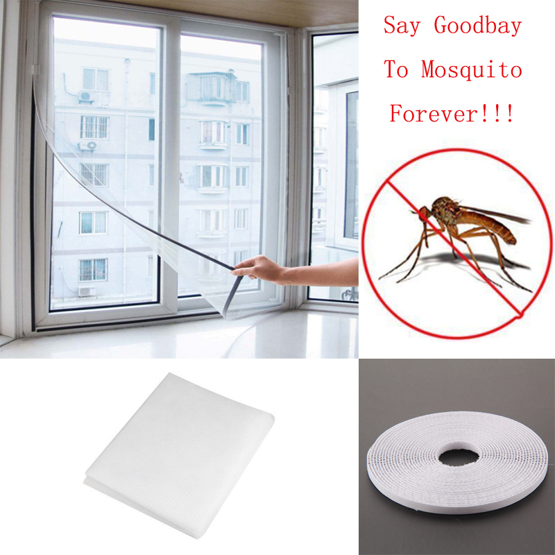 2018 1PC Newest Stealth White Window Insect Screen Mesh Net Mosquito Fly Bug Moth Door Window Netting Flyscreen Sheer Curtain