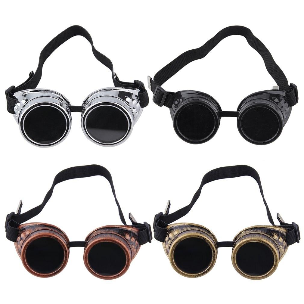 Cyber ОЧКИ СТИМ-панк очки Винтаж сварки панк викторианской Спорт на открытом воздухе Лыжный Спорт солнцезащитные очки