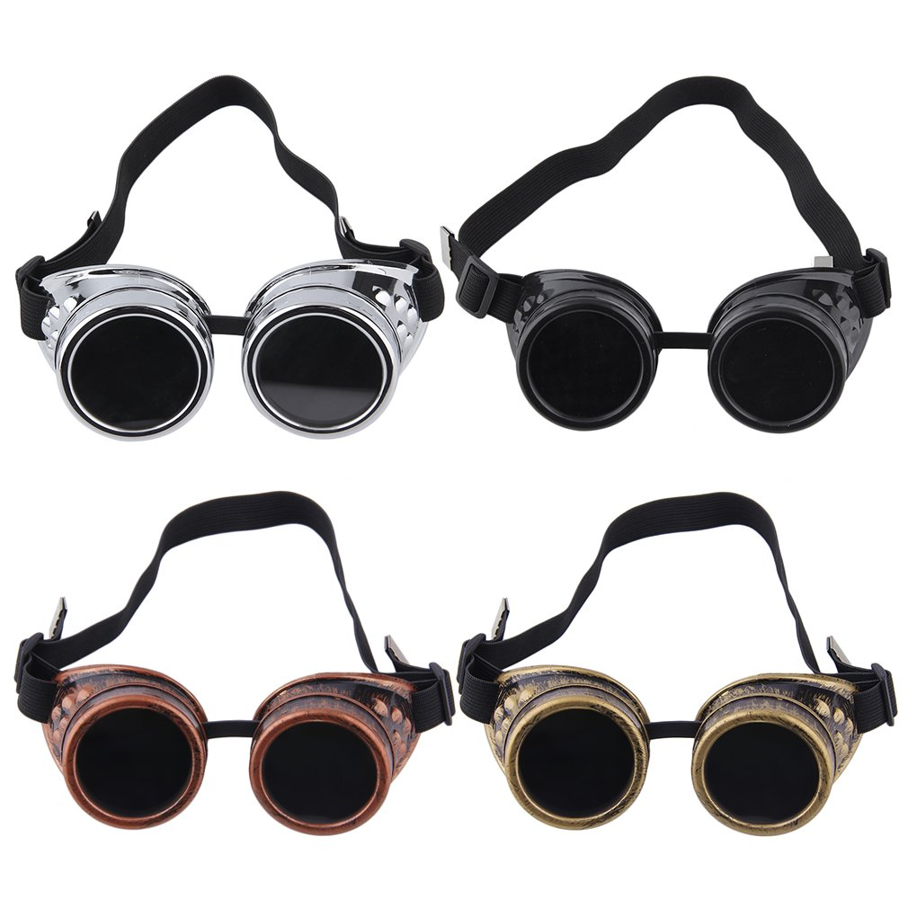 Cyber Goggles Steam-punk Glasses Vintage Welding Punk Victorian Outdoor Sports Skiing Sunglasses