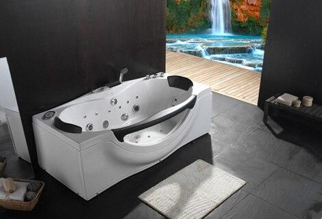 Rectangulaire Faber verre acrylique baignoire à remous Hydromassage surfingbaignoire buses Spary jets jupe droite spa RS6161D