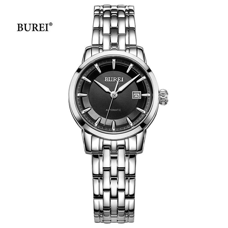 BUREI Women Watches Automatic Mechanical Watch Women Top Brand Luxury Sapphire Clock Montre Femme Ladies Watch