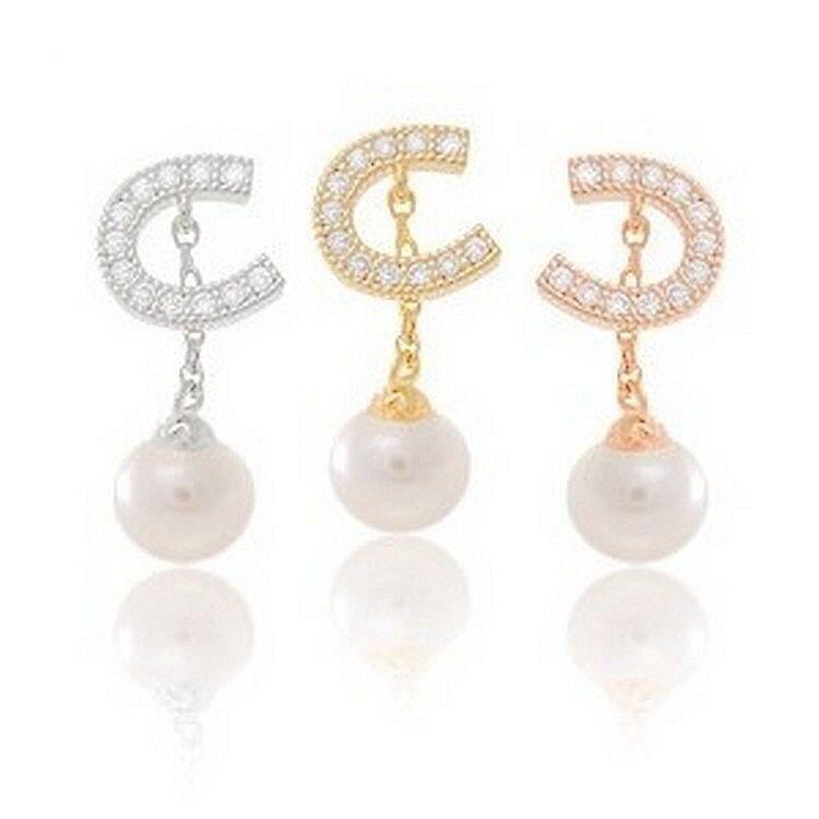 C036 Long Tassel Brincos boucle Bijoux Semicircular Imitation Pearl Stud Earrings For Women Crystal Earings Girls Jewelry