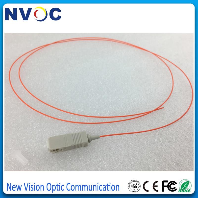 50 шт./лот, 1,5 м 0,9 мм ПВХ оболочка ММ 62,5/125 SC UPC волоконно-оптический косичка, SC/UPC многорежимный Simplex волоконно-оптический кабель