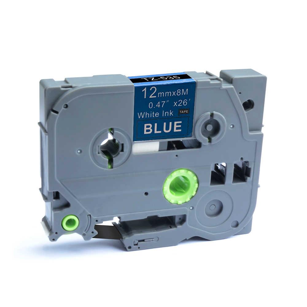 Saya 1 Pza p-touch Compatible para Brother Tze-535 12mm x 8m cinta de etiquetado estándar