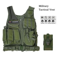Men Military Tactical Vest Military Molle Combat Assault Plate Carrier Vest CS Outdoor Security Clothing Jungle Hunting Vest New