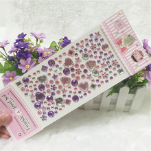 Long section Mix Rhinestones Stickers DIY Scrapbooking acrylic The Laptop Skins personalized crystal stickers self adhesive