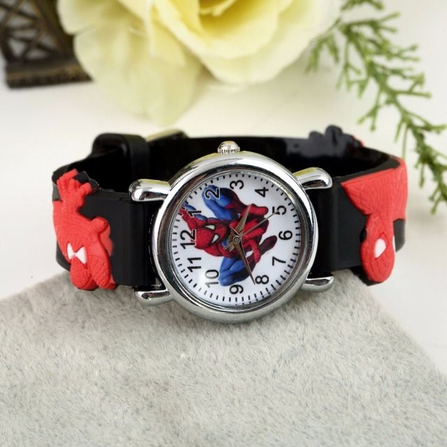 OUTAD 1Pc Sports Chilren Cartoon Watch Fashion Cool 3D Rubber Watches Blue Boys Kid Analog Quartz Wrist Watch enfant Relogio