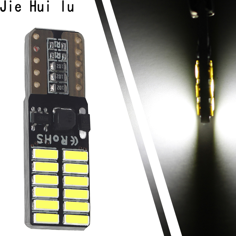 100 piece Super bright LED <font><b>T10</b></font> canbus no error 4014 <font><b>24</b></font> <font><b>SMD</b></font> 24smd 24LED car light 12V w5w auto cob clearance bulbs door image