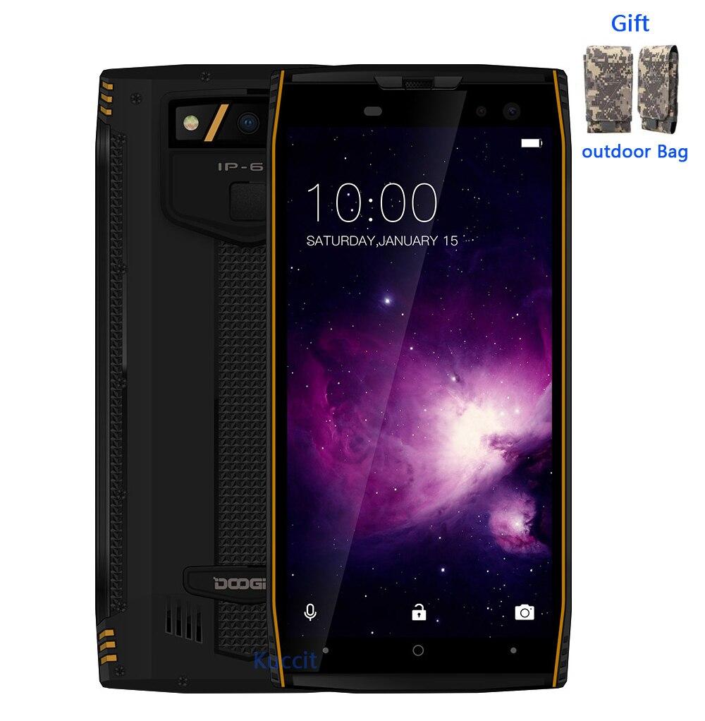 DOOGEE S50 IP68 Smartphone étanche 5.7 ''6 GB 128 GB MTK6763 Octa Core android 7.1 5180 mAh quatre 4 caméras 16.0MP téléphones robustes