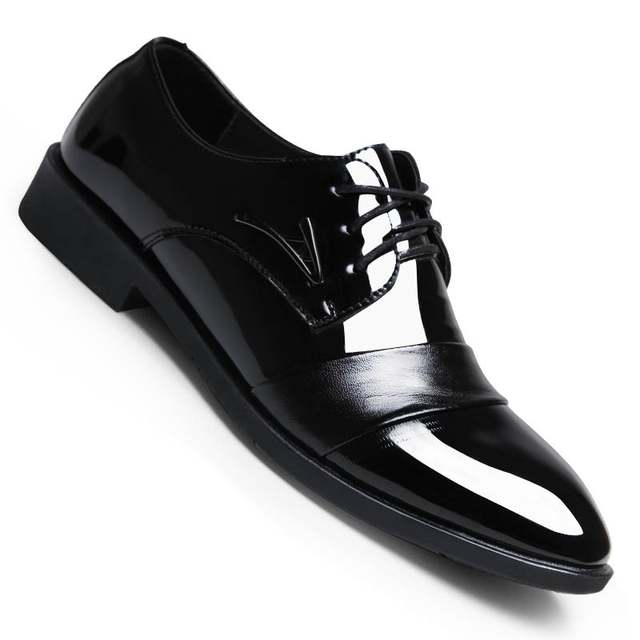 Online Shop Designer Luxury Brand Wedding Shoes Man Patent Leather