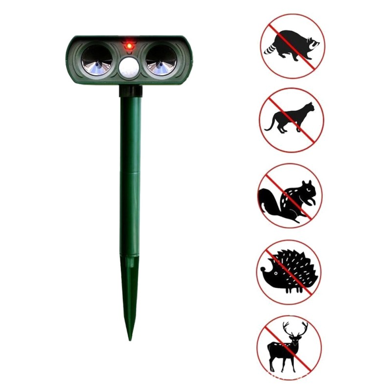 Mouse Repeller Away Pir-Sensor Animal Pest Ultrasonic Garden Solar-Power Outdoor Waterproof title=