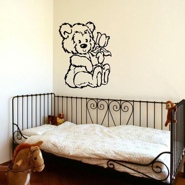 Aliexpress.com : Buy D309 LARGE NURSERY TEDDY BEAR BABY WALL ART ...