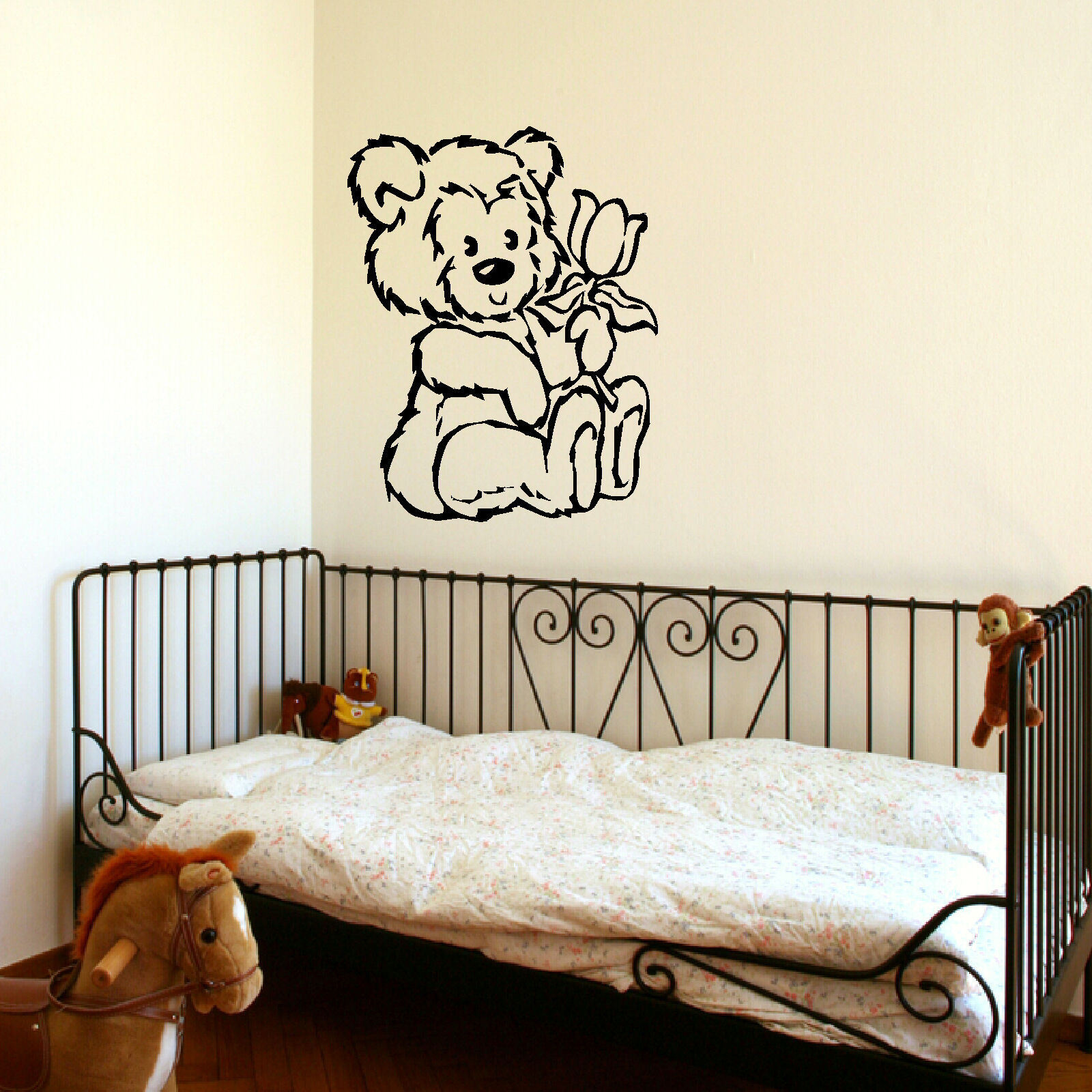 Online get cheap baby girl stencils aliexpress alibaba group d309 large nursery teddy bear baby wall art stencil sticker transfer vinyl decal for girls room decor amipublicfo Images