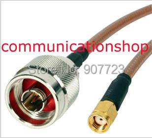 N male To RP-SMA Male Straight Crimp RG142 RF Pigtail Cable 8 20cm