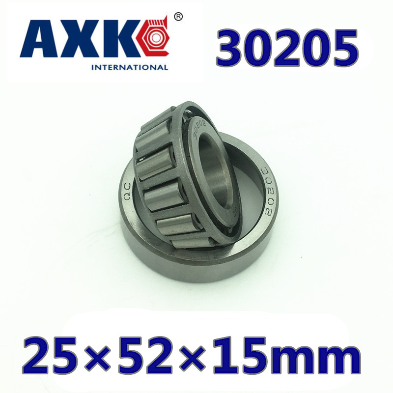 Axk Free Shipping 30205 Bearing 25*52*15 Mm ( 2 Pc ) Tapered Roller Bearings 7205e 30205a 30205j2/q Bearing 30203 bearing 17 40 12 mm 1 pc tapered roller bearings 30203 x 7203e bearing