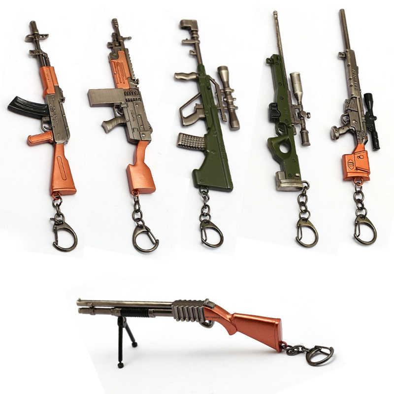 17cm סימולציה אקדח נשק Keychain PUBG Playerunknown llaveros 98K AWM מיני תליון עבור אוהדי מתנות