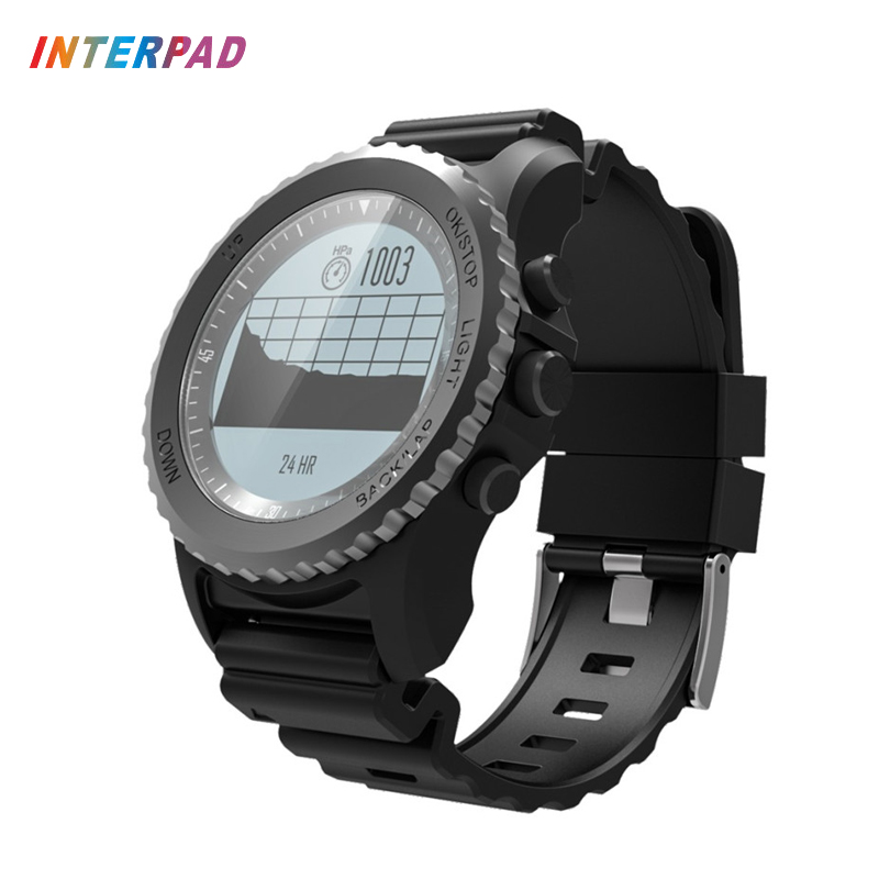 Interpad GPS Smart Watch IP68 Waterproof Heart Rate Monitor Thermometer Altimeter Pedometer Smartwatch For Xiaomi Huawei Clock interpad smart watch professional sports algorithm altimeter thermometer smartwatch heart rate monitor smart watch for xiaomi