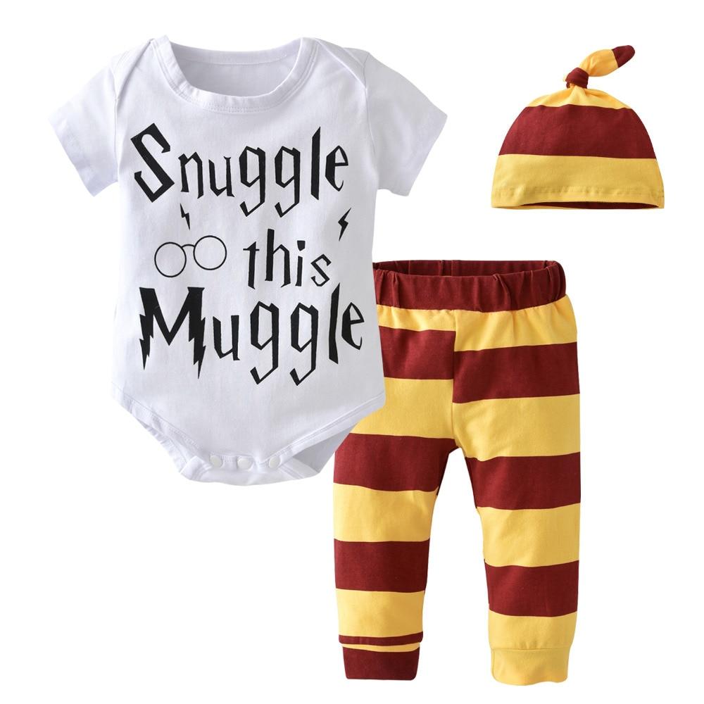 3-PcsSet-2017-Summer-Newborn-Toddler-Baby-Boy-Clothes-Cotton-Short-sleeve-Letter-Baby-RompersPantsHat-Infant-Clothing-Set-2