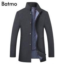 BATMO 2019 ใหม่มาถึงฤดูหนาวคุณภาพสูงผ้าขนสัตว์หนาผู้ชายเสื้อผู้ชายสีเทาเสื้อขนสัตว์, PLUS ขนาด M 6XL,1818