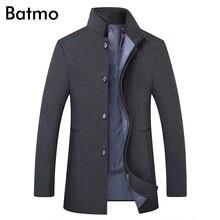 Batmo 2019 새로운 도착 겨울 고품질 양모 두꺼운 트렌치 코트 남성, 남성용 회색 울 재킷, 플러스 사이즈 M 6XL, 1818