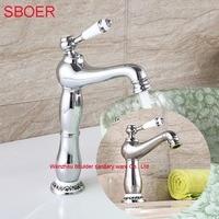 Nuovo arrivo elegante due tipo blu bianco bagno rubinetti da cucina facile Lavaggio per lavabo lavandino germoglio cucina acqua calda e fredda rubinetto