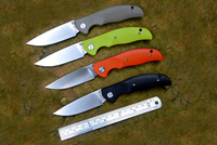 JIN02 Knife YSTART Flipper Pocket Knives D2 Satin Blade Axis System G10 handle black orange green and khaki Camping Tools