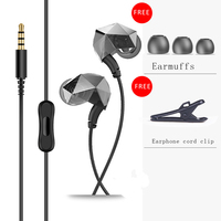 Sound Intone E6 Sport Running Noise Isolating Earphones With Microphone Volume Control Bass Stereo Earphones For